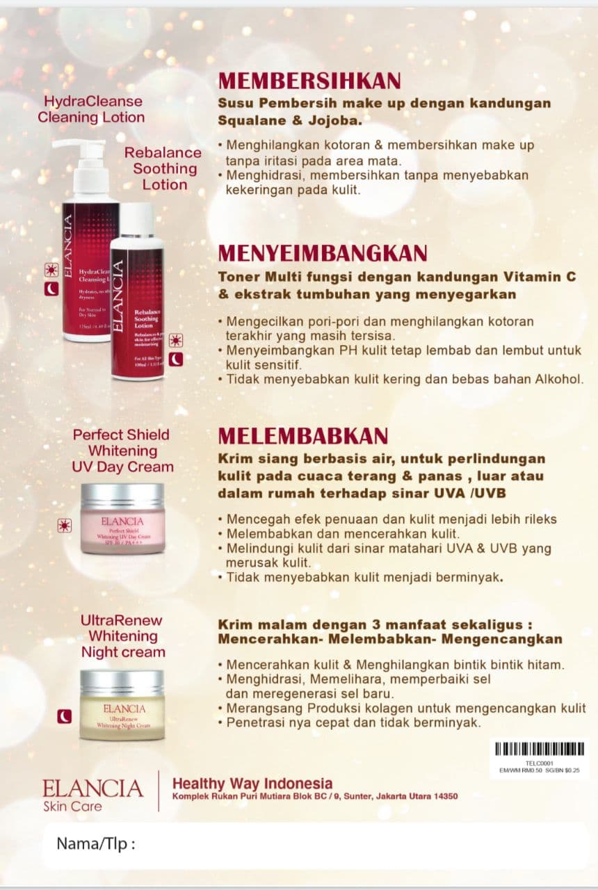 1 Set ELANCIA Skin Care (4)